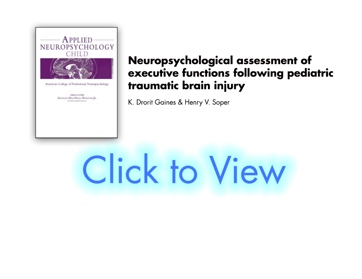 Pediatric TBI